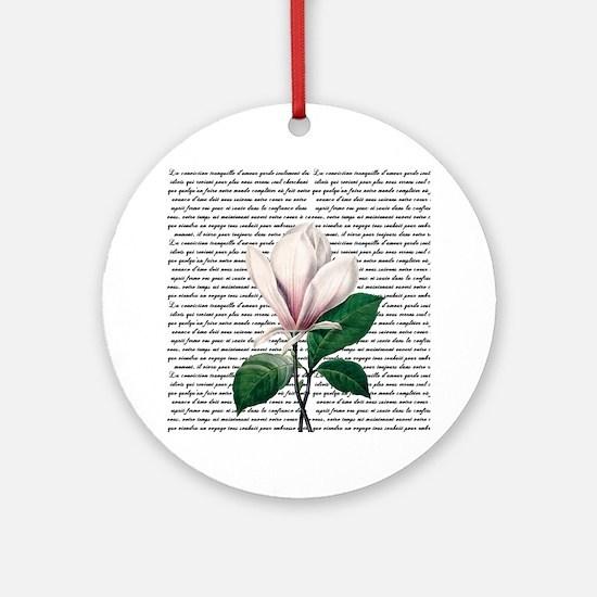 Vintage Magnollia Round Ornament