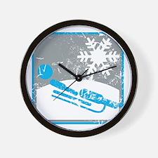 rennrodeln symbol (used) Wall Clock