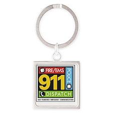 911 SAN FRANCISCO Square Keychain