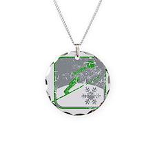 skispringen symbol (used) Necklace