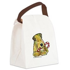 Wheaten terrier Candy Cane Canvas Lunch Bag