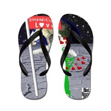 Poppy out of this world Flip Flops