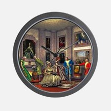Your photos in a historical art gallery Wall Clock