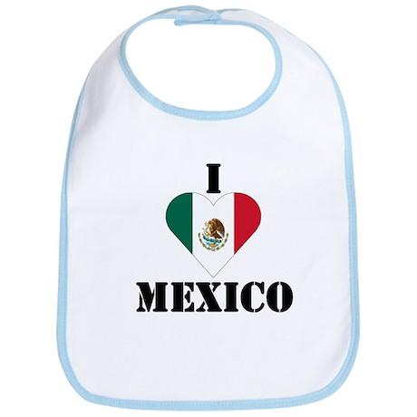 I Love Mexico Bib