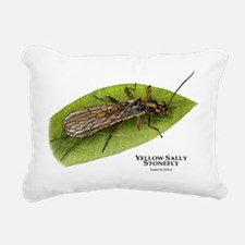 Yellow Sally Stonefly Rectangular Canvas Pillow