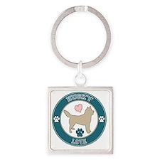 Husky Love Square Keychain
