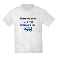 MILKMAN'S KID FUNNY Kids WHITE OR ASH T-Shirt