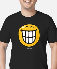 delight smiley Men's Fitted T-Shirt (dark)