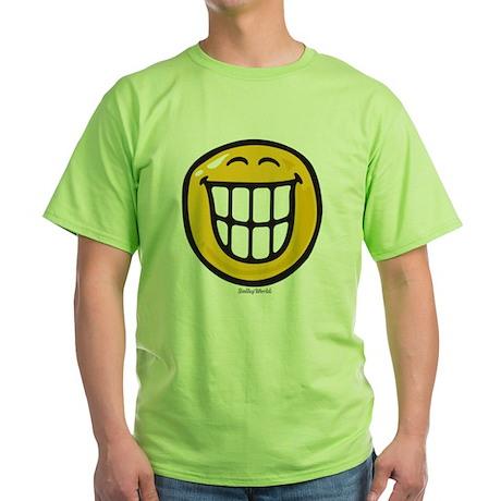delight smiley Green T-Shirt