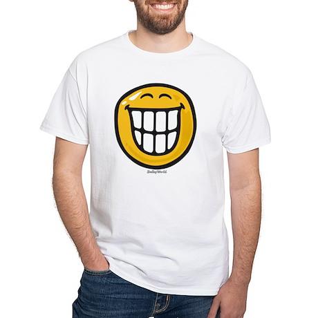 delight smiley White T-Shirt