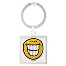 delight smiley Square Keychain