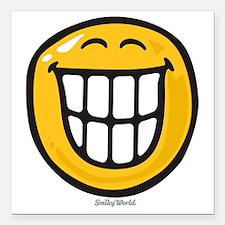 "delight smiley Square Car Magnet 3"" x 3"""