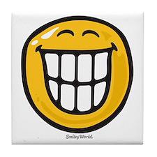 delight smiley Tile Coaster