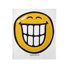 delight smiley Throw Blanket