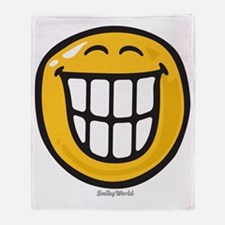 delight smiley Throw Blanket