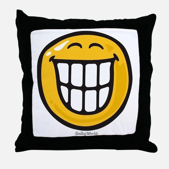 delight smiley Throw Pillow