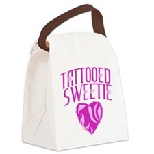 Tattooed Sweetie Canvas Lunch Bag