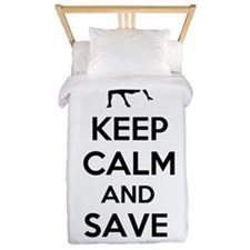 Keep Calm and Save Wrestling Twin Duvet