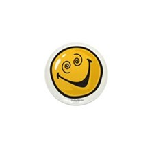 crazy smiley Mini Button
