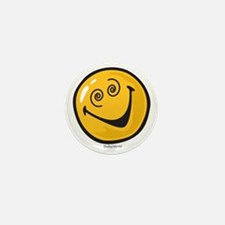 crazy smiley Mini Button