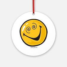 crazy smiley Round Ornament
