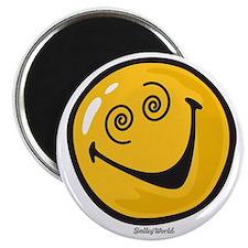 crazy smiley Magnet
