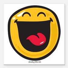 """highly amused Square Car Magnet 3"""" x 3"""""""