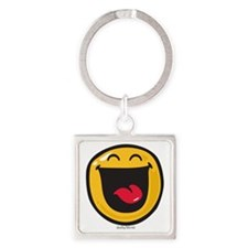 highly amused Square Keychain