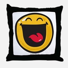 highly amused Throw Pillow