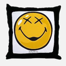 unconscious smiley Throw Pillow