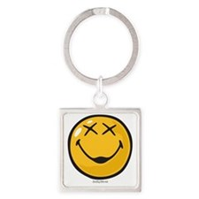unconscious smiley Square Keychain