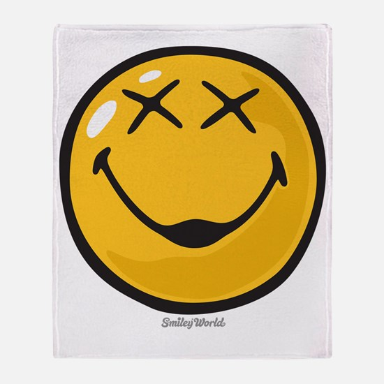 unconscious smiley Throw Blanket