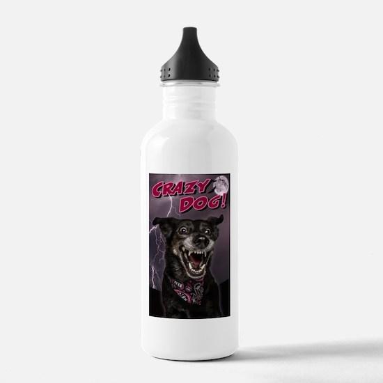 CRAZY DOG! Water Bottle