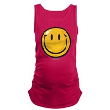 big smile smiley Maternity Tank Top