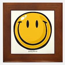 big smile smiley Framed Tile