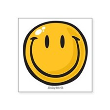 "big smile smiley Square Sticker 3"" x 3"""