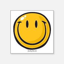 """big smile smiley Square Sticker 3"""" x 3"""""""
