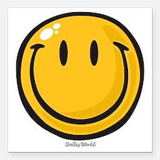 "big smile smiley Square Car Magnet 3"" x 3"""