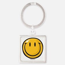 big smile smiley Square Keychain
