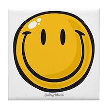 big smile smiley Tile Coaster