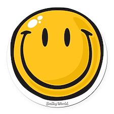 big smile smiley Round Car Magnet