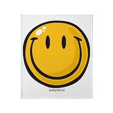big smile smiley Throw Blanket