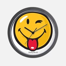 playful smiley Wall Clock