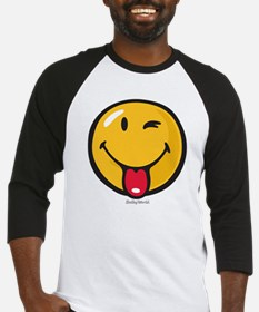 playful smiley Baseball Jersey