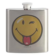 playful smiley Flask