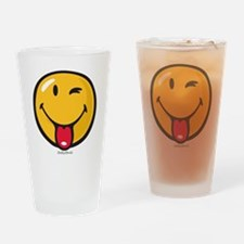 playful smiley Drinking Glass