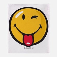 playful smiley Throw Blanket
