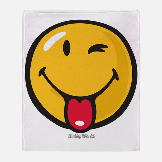 playful smiley Throw Blanket