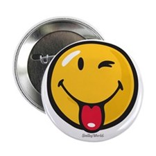 "playful smiley 2.25"" Button"