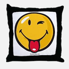playful smiley Throw Pillow